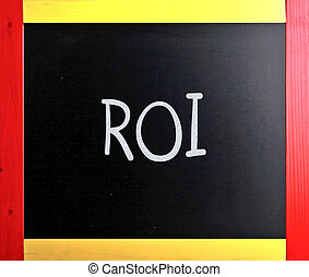 "слово, классная доска, мел, ""roi"", белый, рукописный"