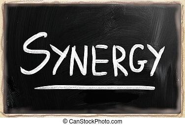 """слово, классная доска, мел, """"synergy"""", белый, рукописный"""