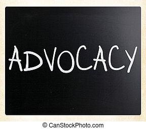 слово, классная доска, 'advocacy', мел, белый, рукописный