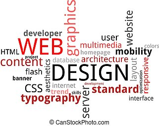 слово, облако, -, web, дизайн