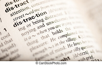 слово, отвлечение