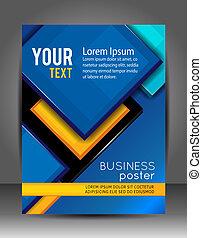 слой, бизнес, абстрактные, template., background., листовка,...