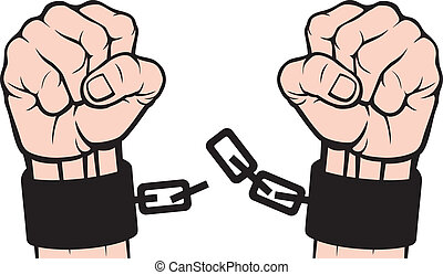 сломанный, рука, chains, (fetters)