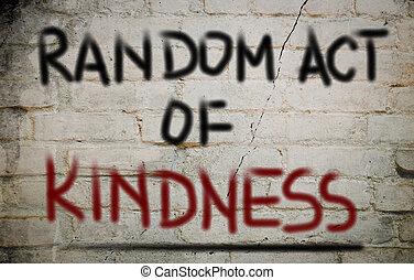 случайный, доброта, концепция, акт