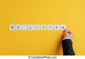 слушать, знак, мы