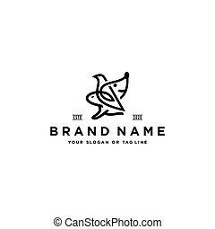 собака, птица, дизайн, кролик, вектор, логотип