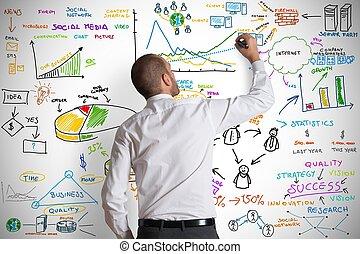 современное, бизнес, концепция