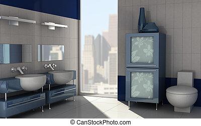 современное, ванная комната