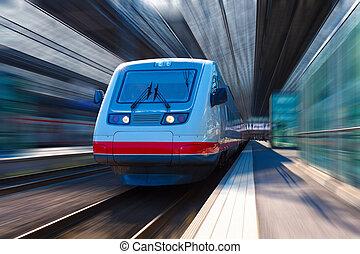 современное, высокая, скорость, поезд
