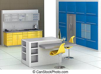 современное, кухня