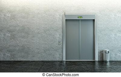современное, лифт