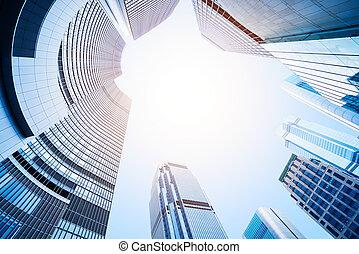 современное, центр, бизнес