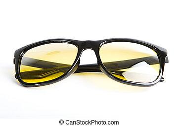 солнечные очки, isolated, на, , белый