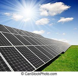 солнечный, энергия, panels