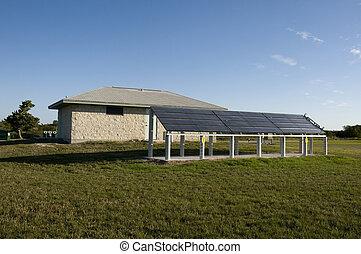 солнечный, panels, в, комната отдыха