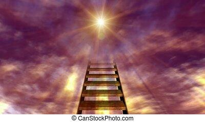 солнце, лестница