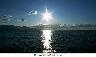 солнце, морской пейзаж