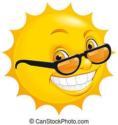 солнце, улыбается
