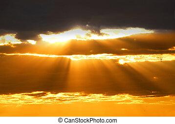 солнце, rays