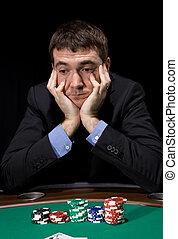 сомнение, в, , казино