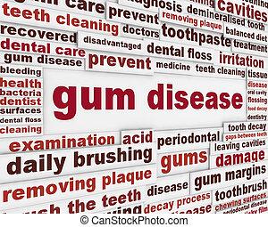 сообщение, предупреждение, болезнь, жвачка