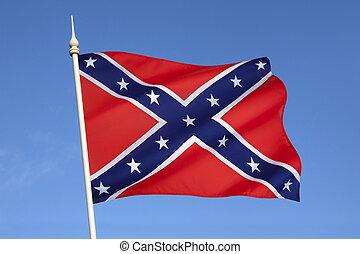 состояния, флаг, америка, конфедерат