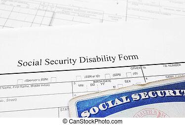 социальное, безопасность, disability, форма