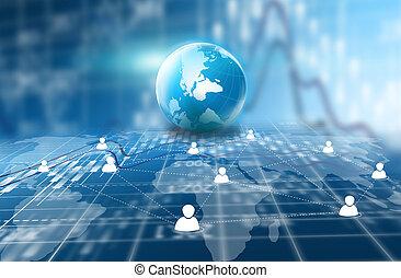 социальное, сми, сеть, concept.