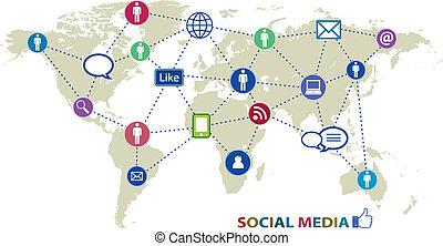 социальное, сми, icons