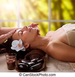спа, лицевой, массаж