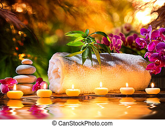 спа, массаж, в, сад, -, воды