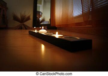 спа, свеча
