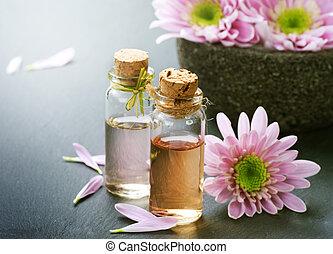спа, oil., существенный, ароматерапия