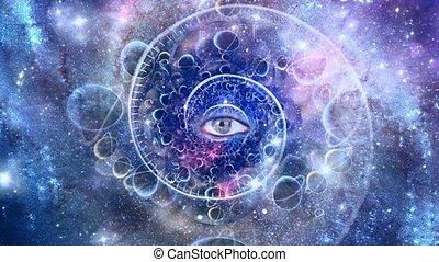 спираль, время, глаз