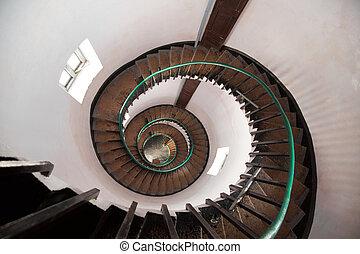 спираль, лестница