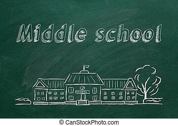 средний, школа