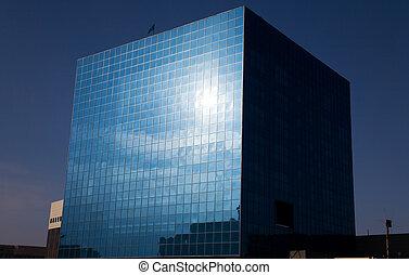 стакан, офис, кубический