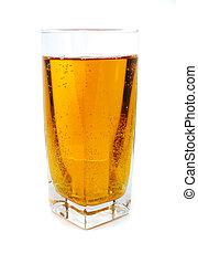 стакан, bubbles, яблоко, сок