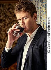стакан, of, напиток