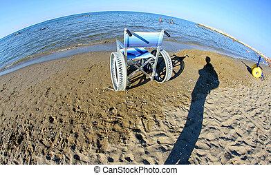 стали, люди, отключен, wheelchairs, wheels, особый