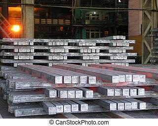 стали, производство, мастерская, болванка