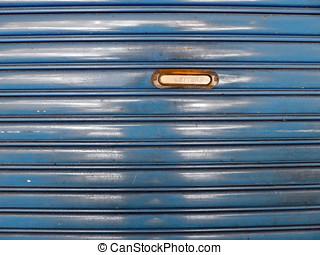 стали, рулон, вверх, дверь, with, почтовый ящик