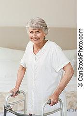 старшая, ее, рамка, женщина, zimmer