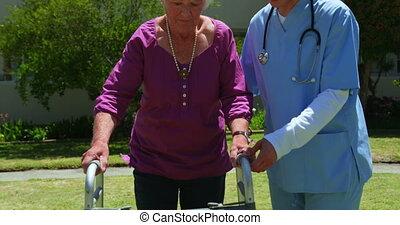 старшая, ню, сад, фронт, посмотреть, женский пол, врач, ...