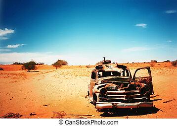 старый, автомобиль