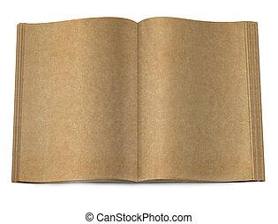 старый, книга, открытый, два, лицо, на