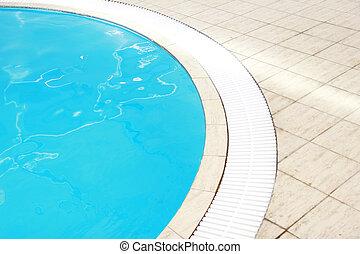 старый, красивая, синий, воды, бассейн
