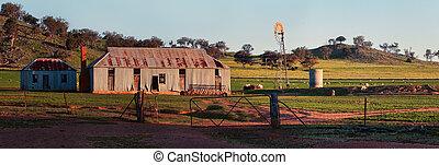 старый, овца, станция, в, центральный, запад, nsw