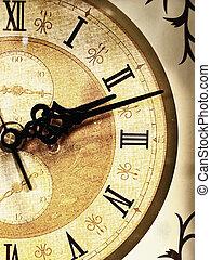 старый, часы