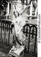 статуя, of, an, ангел